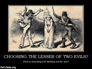 Image result for the lesser of two evils